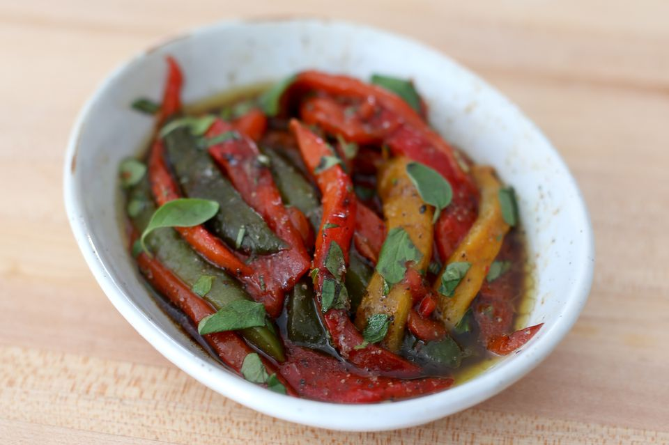 Marinated Roasted Peppers
