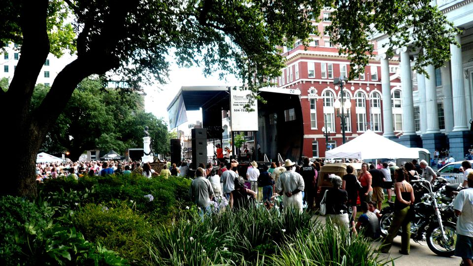 The Crowd at the Free Jazz Concert in Lafayette Square, NOLA