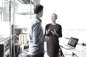 Business colleagues discussing in an office