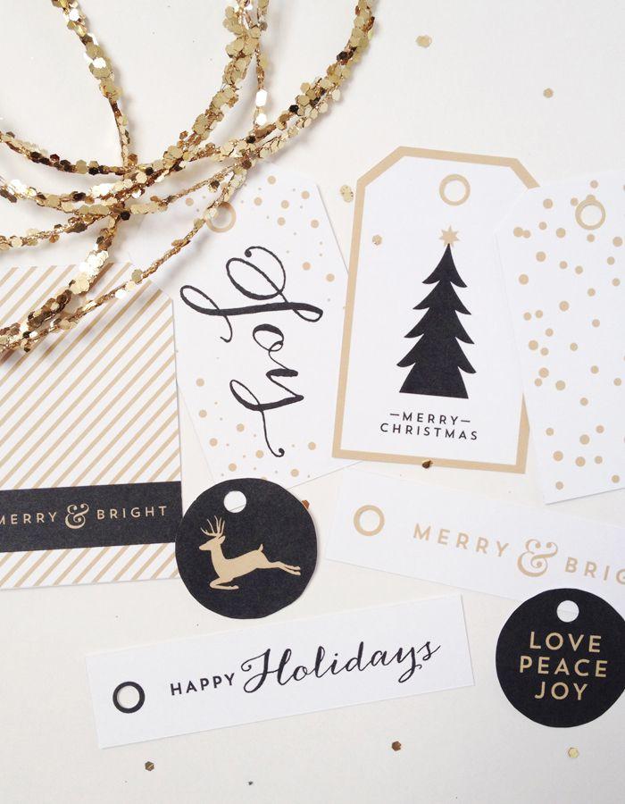 DIY Glam Christmas Gift Tags