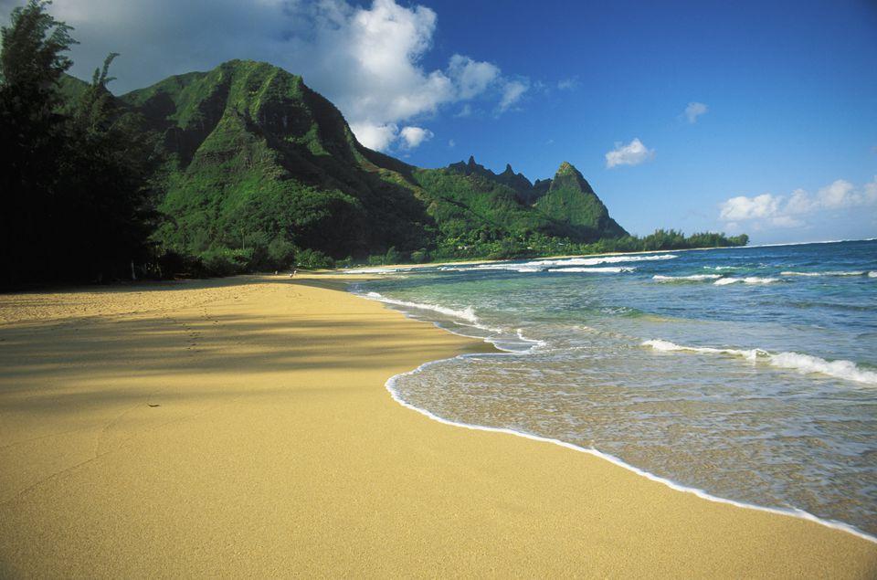 Tunnel Beach and Bali Hai Point on Kauai, Hawaii