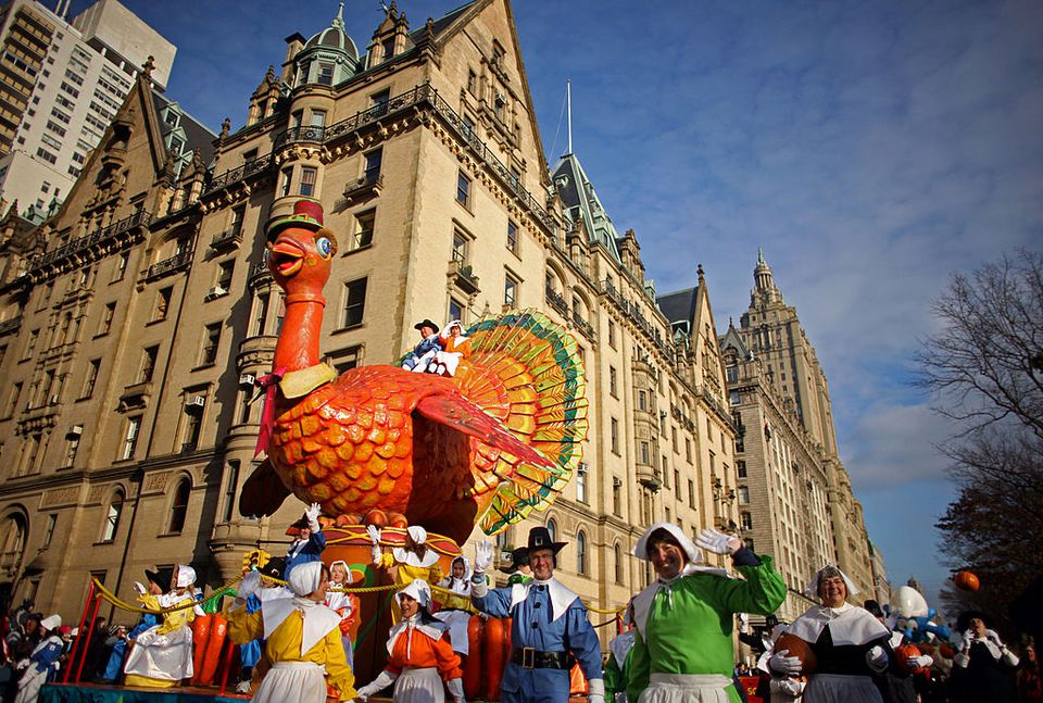 A float in the annual Macy's Thanksgiving Day parade.