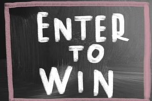 Image of a Sign Saying Enter to Win
