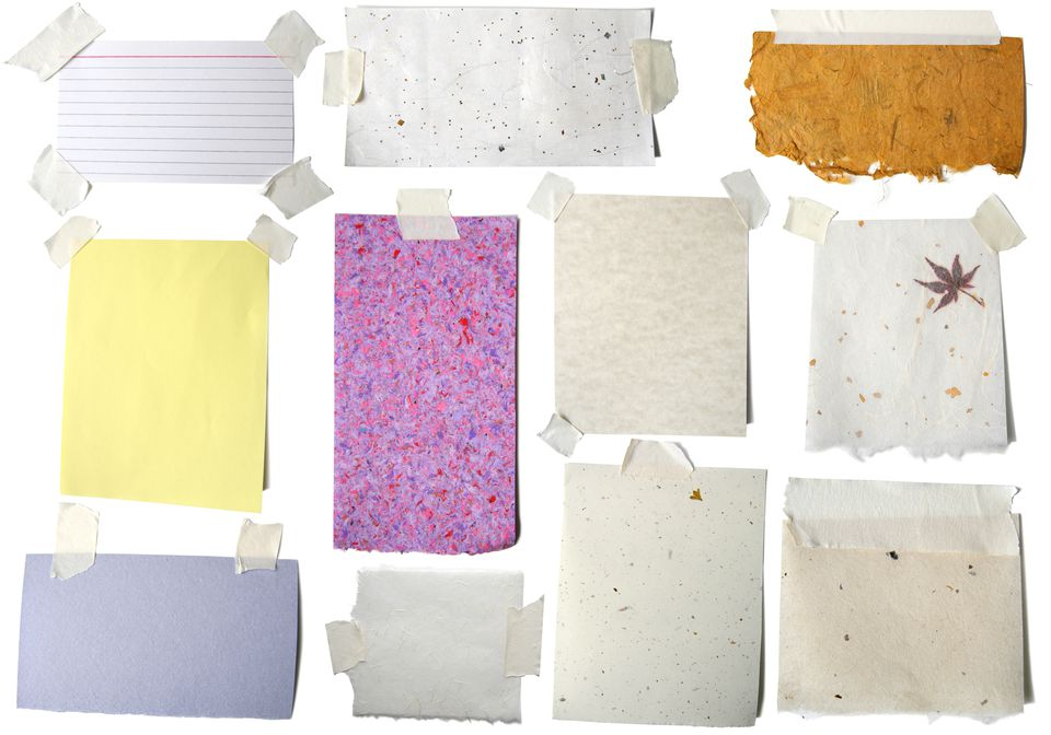 All the Pretty Papers: Blank with tape