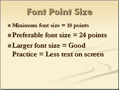 presenter tips using fonts in powerpoint font sizes for powerpoint presentations