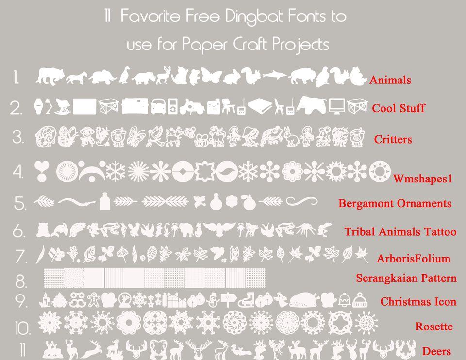 11 favorite dingbat fonts