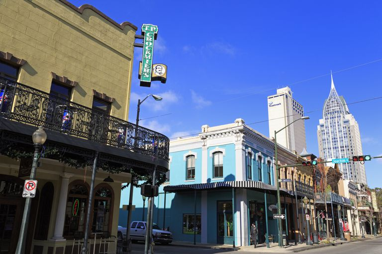 Dauphin Street, Mobile, Alabama