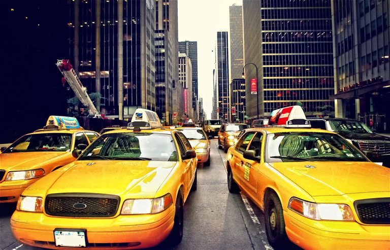 Taxis in Financial District