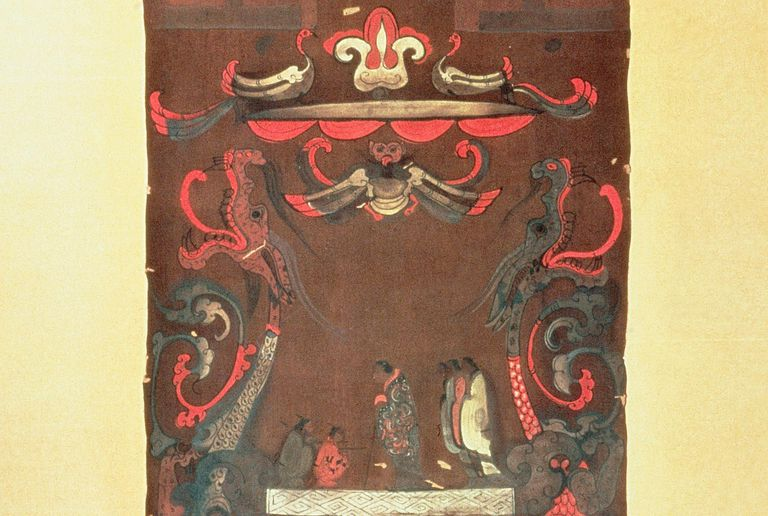 Han Dynasty Funeral Banner Showing Deceased Lady Dai from Mawangdui