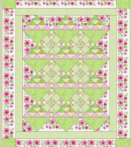 X S And O S Baby Quilt Pattern With Easy Sashing