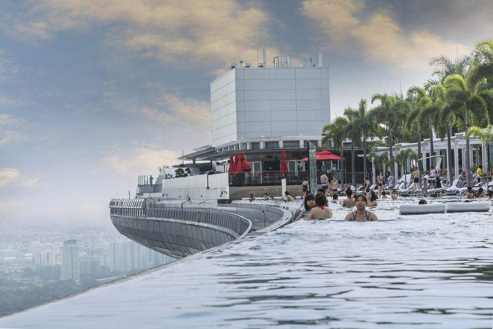 Marina Bay Sands' infinity-edge pool