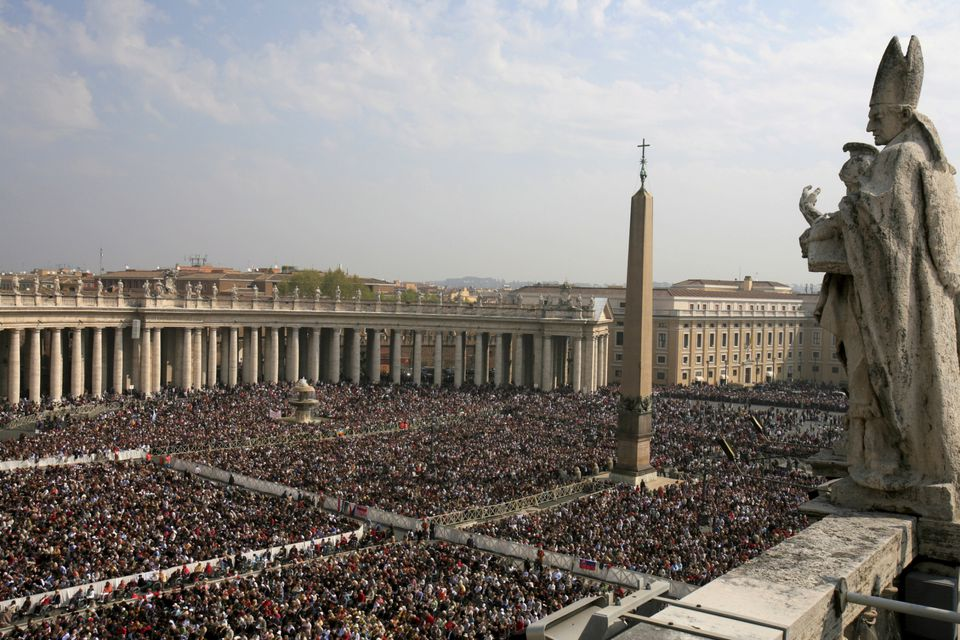 Saint Peter's Square during Easter Week.