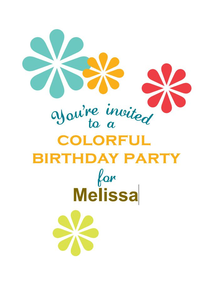 17 free printable birthday invitation templates colorful birthday party invitations by hoestess with the mostess stopboris Images
