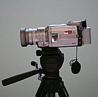 Photo of Video Camera on Stand