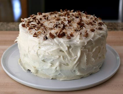 Banana Nut Cake Recipe With Caramel Frosting