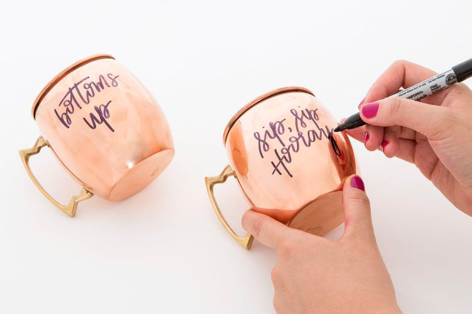 diy engraved moscow mule cups