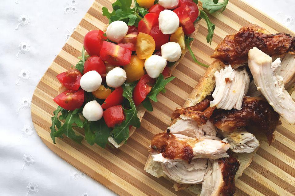 Roasted Chicken Caprese Sandwich Recipe