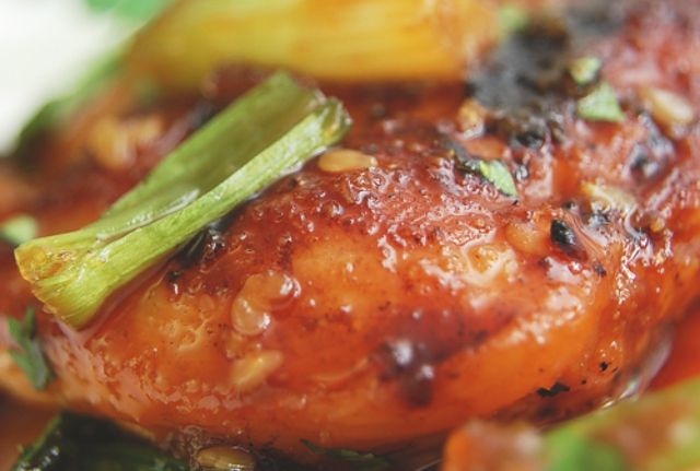 Sesame ginger grilled chicken breast recipe