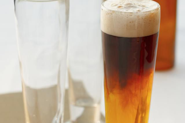 Black and Blue Beer Mixed Drink