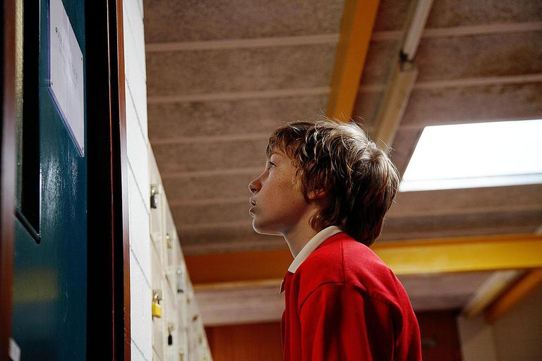 School Boy Locked Out of Class