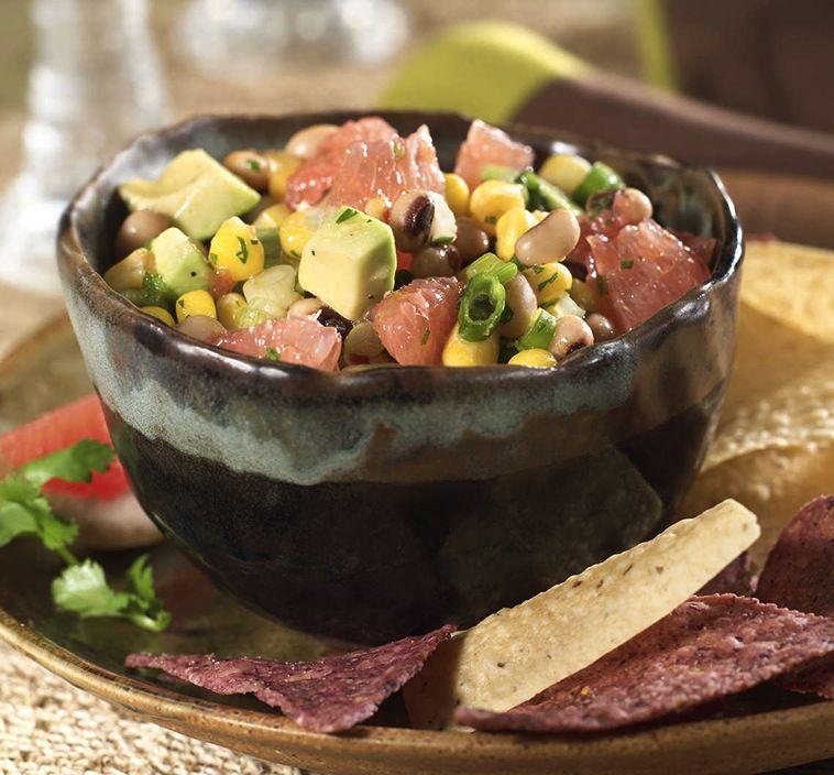 Texas caviar - black eyed peas with avocado and grapefruit