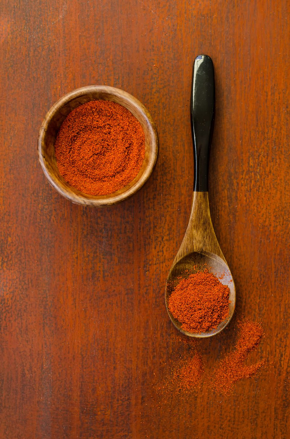 Paprika on a wooden table