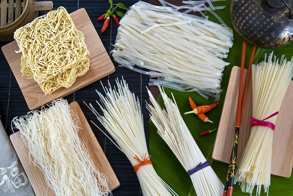 Various types of chinese noodles