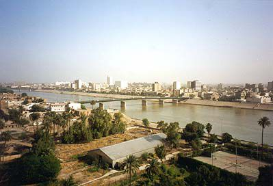 View of Baghdad and the Tigris River