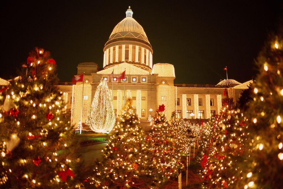 Arkansas State Capitol christmas