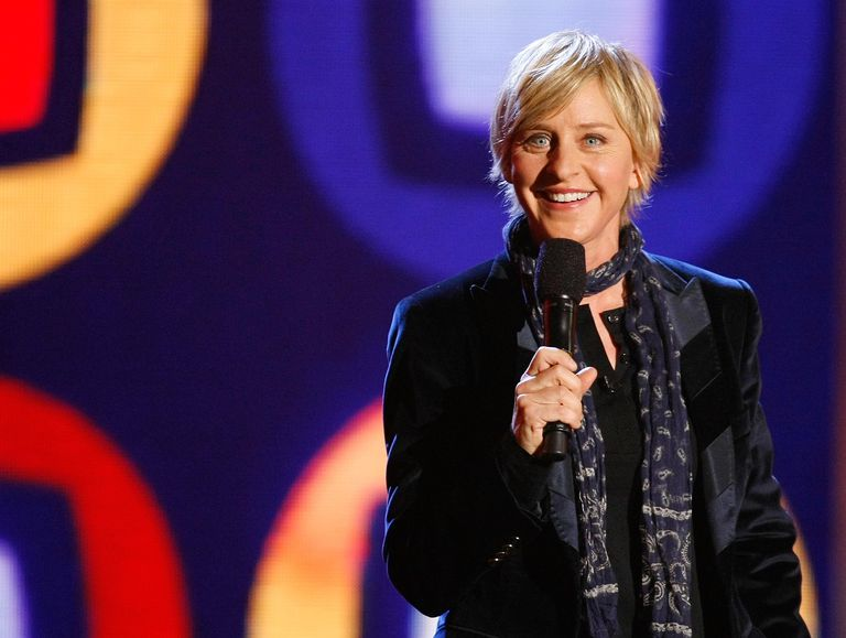 Talk show host/comedian Ellen DeGeneres performs at a taping of ''Ellen's Even Bigger Really Big Show'' during The Comedy Festival