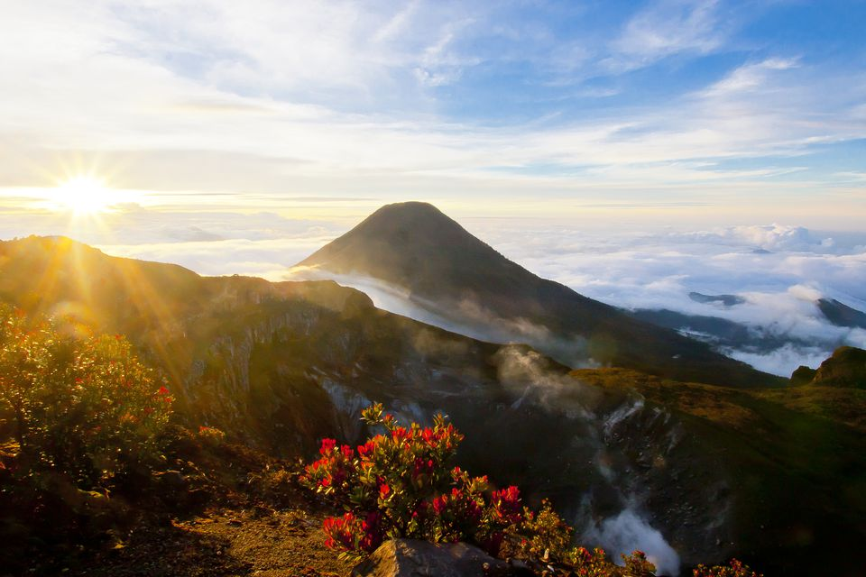 Gunung Pangrango, as seen from Gunung Gede