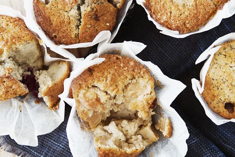 Board of apple muffins