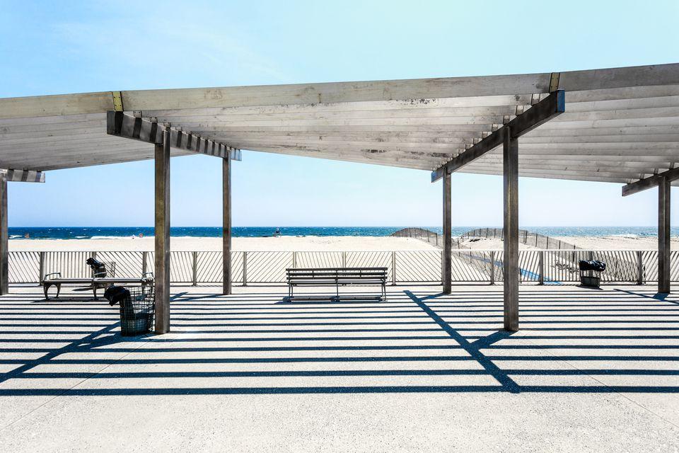 Empty Beach at Rockaway Beach, Queens, New York City