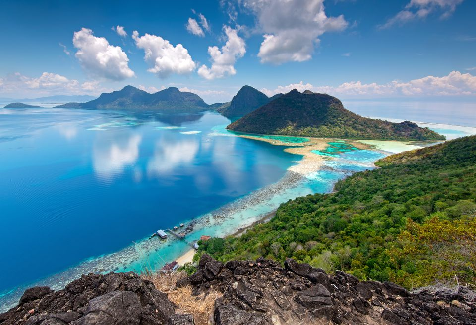 Beautiful View from the Top of Bohey Dulang Island