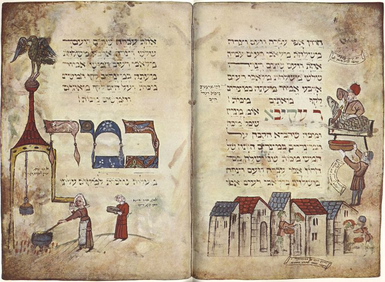 Hagadah: section with passage from Rabbi Akiva.
