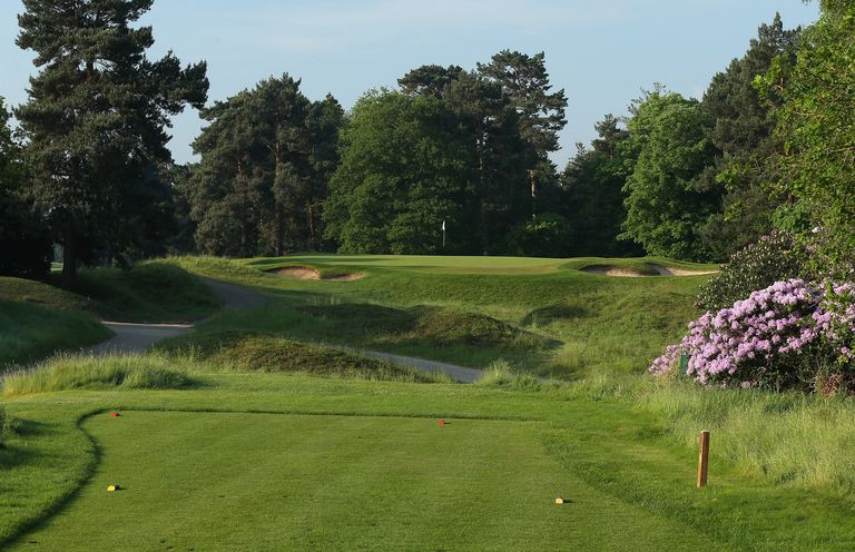 The 147 yards par 3, 17th hole at the Coombe Hill Golf Club in Kingston Upon Thames, England