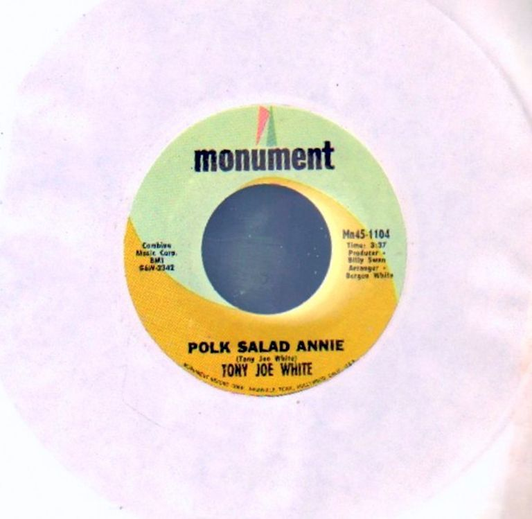 "The 45 of Tony Joe White's ""Polk Salad Annie"""