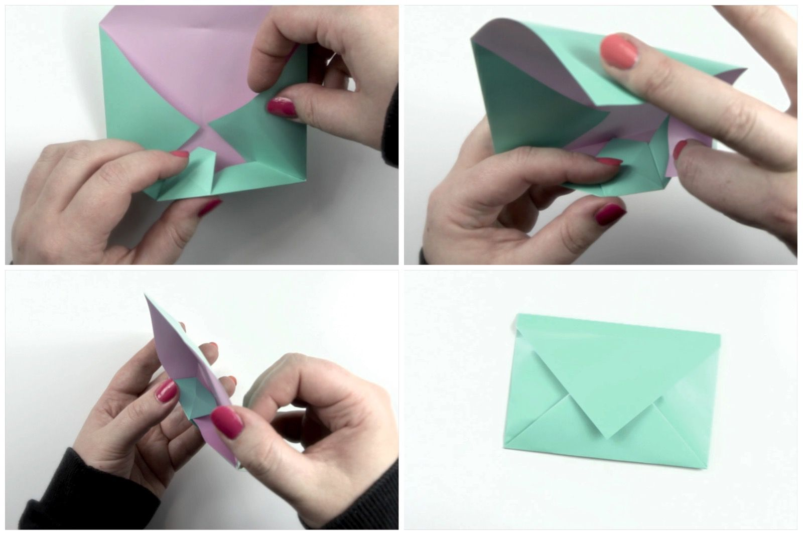 Paper Envelope - How to Make a Paper Envelope Without Glue or Tape ... | 1066x1600