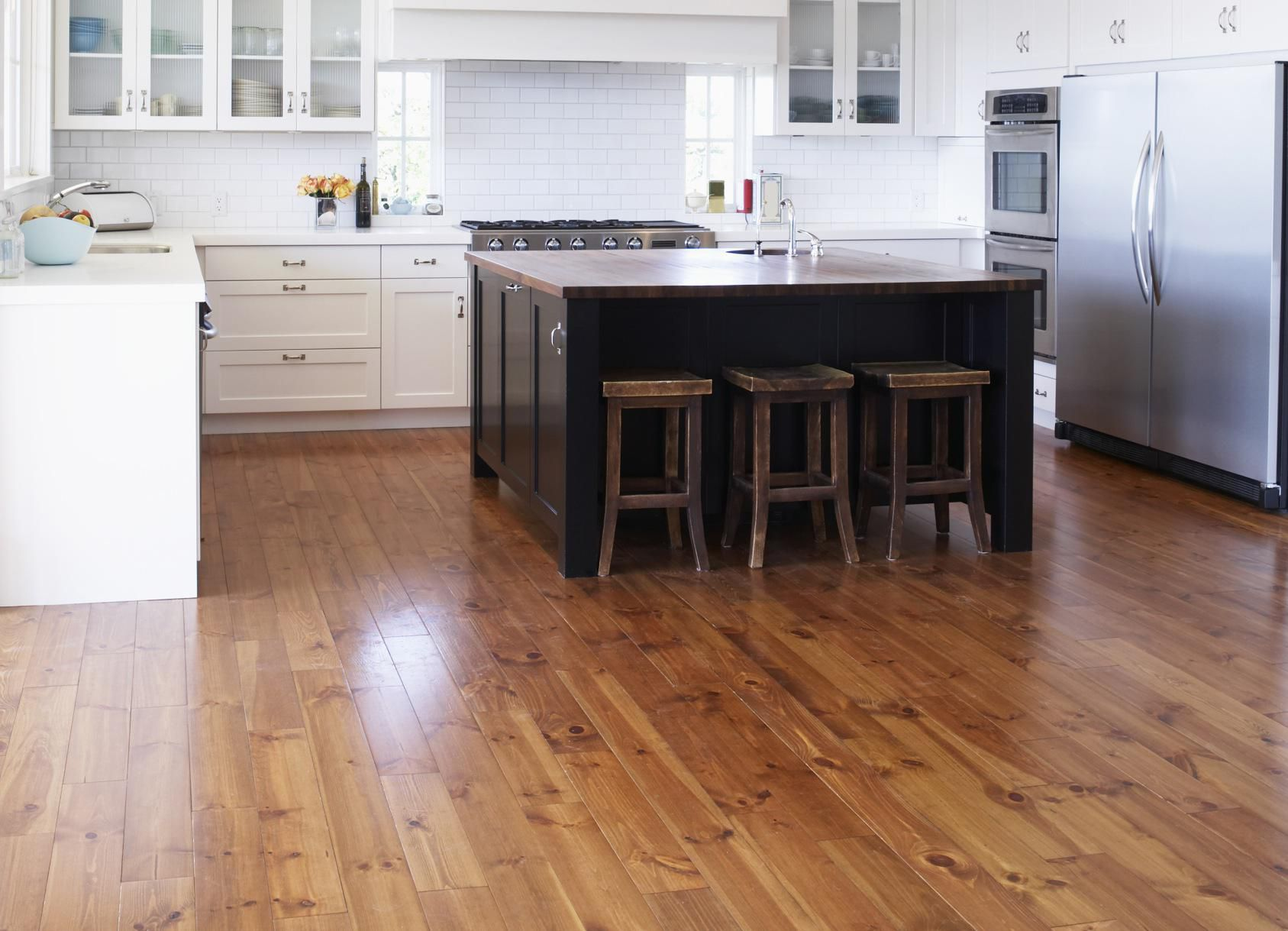 kitchen floor wood 4 and inexpensive kitchen flooring options 1687