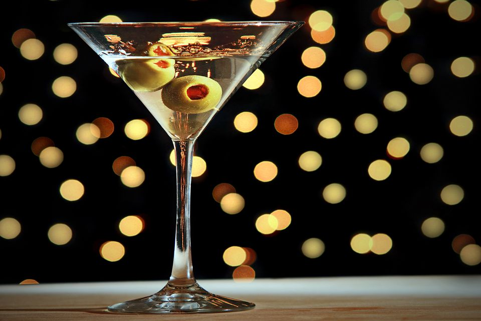 Classic Gin Martini with Olives