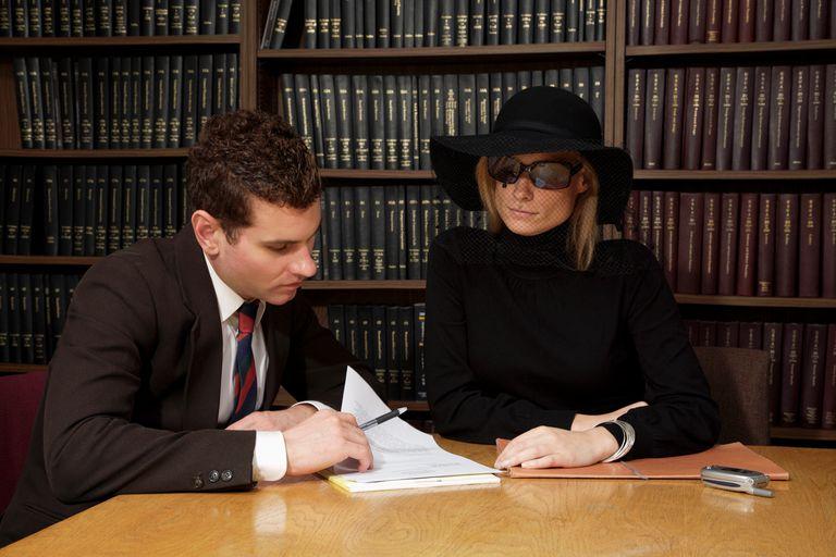 Widow with lawyer
