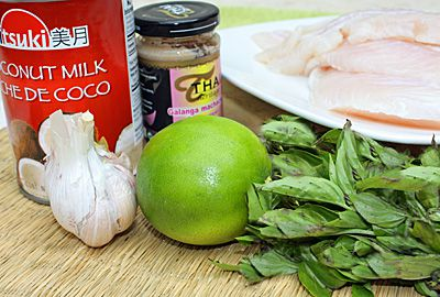 Ingredients for Thai Fish WRapped in Banana Leaf