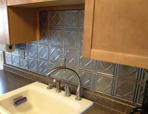 Antique Style Metal Tin Backsplash