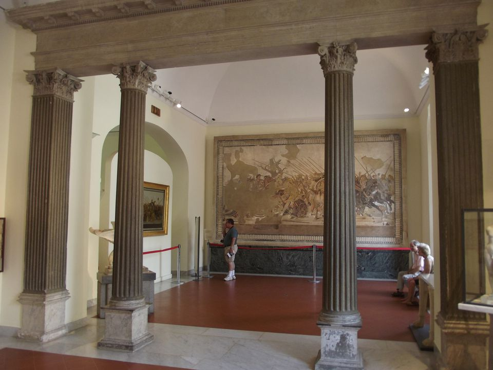 One of the halls of the National Archaeology Museum of Naples.