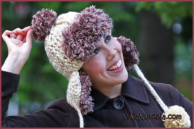 Faux Fur Trapper Hat Free Crochet Pattern