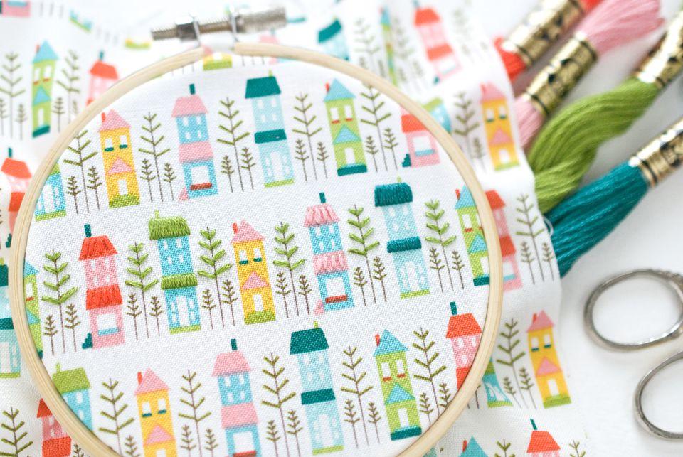 Embellishing Printed Fabric