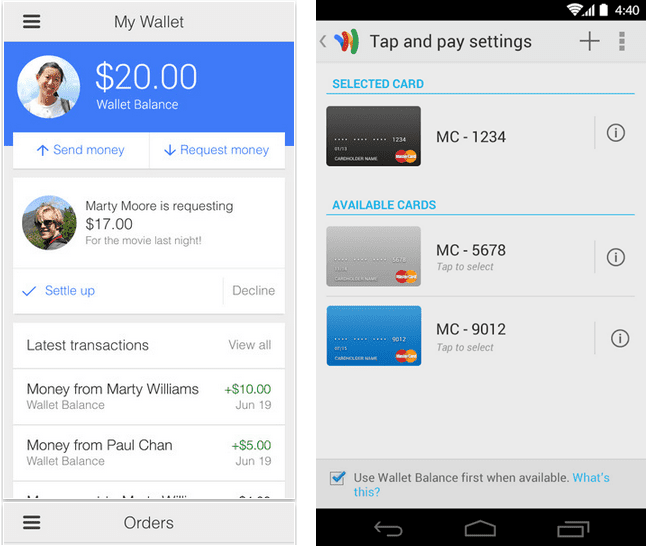Google Wallet apps for iPhone and Android