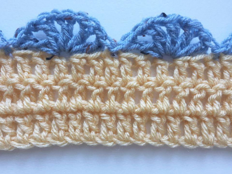 Crochet Shell Stitch Edging