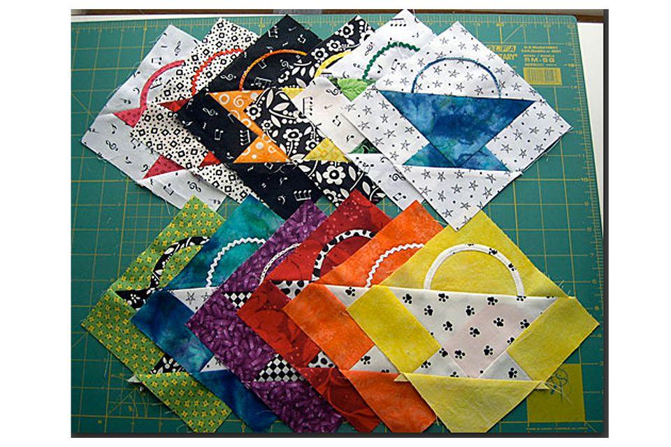 Easy Basket Quilt Block Pattern