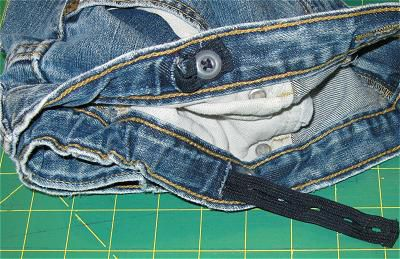 Buttonhole Elastic in Child's Jeans